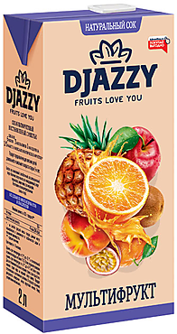«Djazzy», сок мультифруктовый, с мякотью