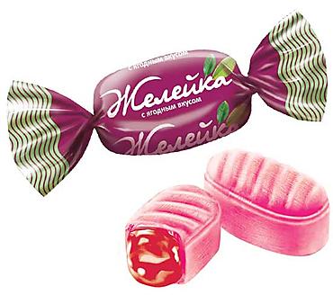 Карамель «Желейка» с ягодным вкусом (упаковка 1кг)