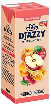 «Djazzy», сок яблочно-персиковый, с мякотью, 200мл
