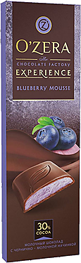 «OZera», шоколад Blueberry Mousse, 93 г