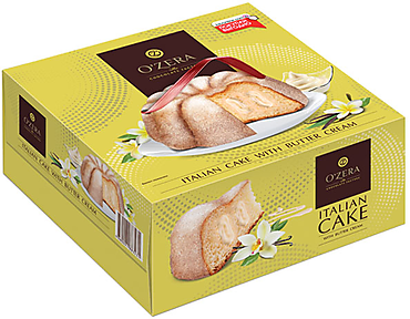 «OZera», кекс со сливочным кремом, 520г
