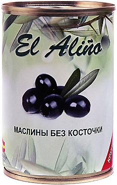 «EL alino», маслины крупные без косточки, 270г