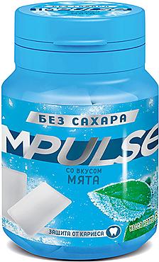 «Impulse», жевательная резинка со вкусом «Мята», 56г
