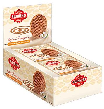 «Яшкино», вафли «Голландские» с карамельной начинкой, 36г