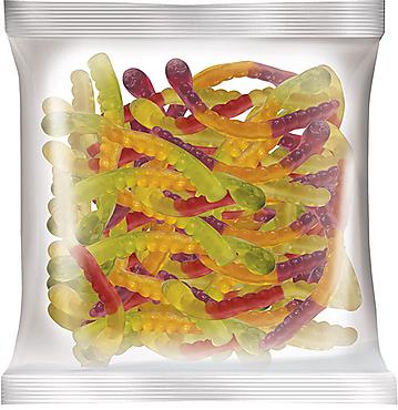«КрутФрут», мармелад жевательный со вкусом вишни и маракуйи, колы и лайма, черной смородины и апельсина, 70г