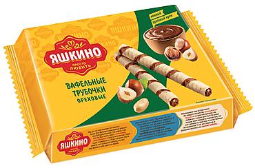 «Яшкино», трубочки вафельные «Ореховые», 190г