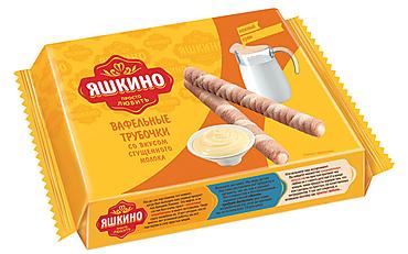 «Яшкино», трубочки вафельные со вкусом сгущённого молока, 190г