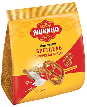 «Яшкино», крекер «Бретцель» с солью, 180г