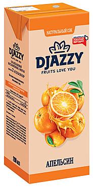 «Djazzy», сок апельсиновый, с мякотью, 200мл
