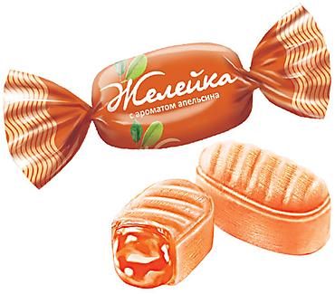 Карамель «Желейка» со вкусом апельсина (упаковка 1кг)