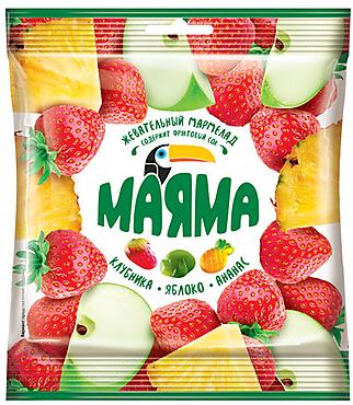 «Маяма», мармелад жевательный в форме ягод и фруктов, 70г