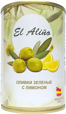 «EL alino», оливки крупные с лимоном, 270г