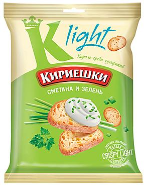 «Кириешки Light», сухарики со вкусом сметаны и зелени, 80г