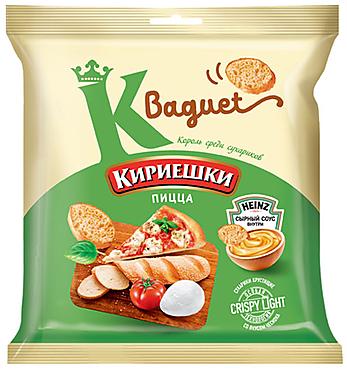 «Кириешки Baguet», сухарики со вкусом пиццы и сырным соусом, 75г