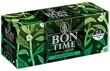 «Bontime», чай зелёный, 25 пакетиков, 50г