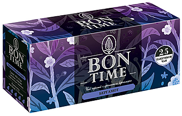 «Bontime», чай черный с ароматом бергамота, 25 пакетиков, 50г