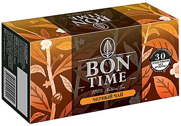«Bontime», bontime чай черный, 30 пакетиков без ярлычка, 60г