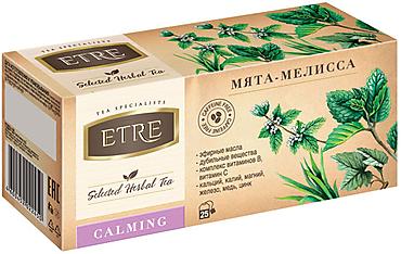 «ETRE», чайный напиток Calming мята-мелисса, 37г