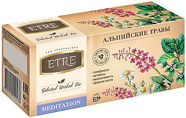 «ETRE», чайный напиток Meditation Альпийские травы, 37г