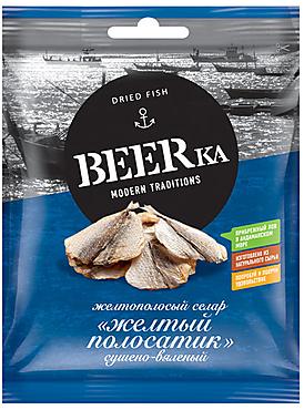 «Beerka», жёлтый полосатик сушёно-вяленый, 40г