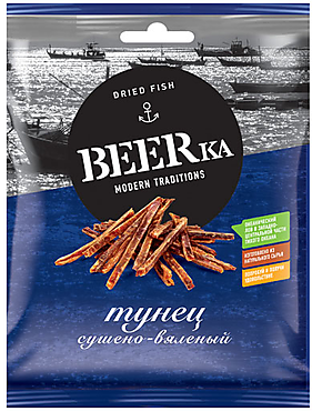 «Beerka», тунец сушёно-вяленый, 40г