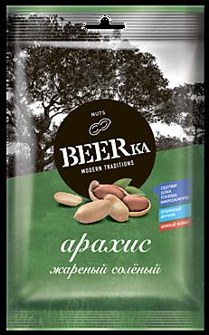 Арахис «Beerka» жареный, солёный, 90г