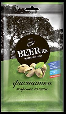 Фисташки «Beerka» жареные, солёные, 80г