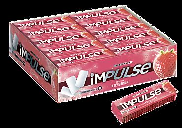 Жевательная резинка «IMPULSE» со вкусом клубники, 14г