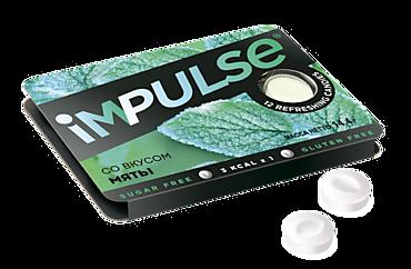 Пастилки «IMPULSE» со вкусом мяты, без сахара, 14г
