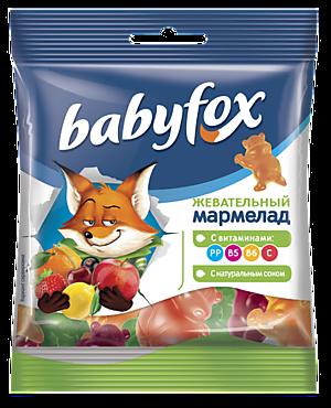 Жевательный мармелад «Babyfox» с натуральным соком ягод и фруктов, 30г