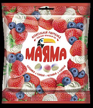 Мармелад жевательный «Маяма» Клубника и черника со сливками, 70г