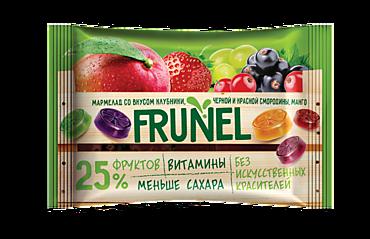 Мармелад «Frunel» со вкусом клубники, черной и красной смородины, манго, винограда, 40г