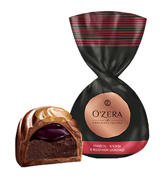Конфета «OZera» Трюфель - клюква в молочном шоколаде