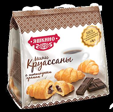 Мини-круассаны «Яшкино» с шоколадным кремом, 180г