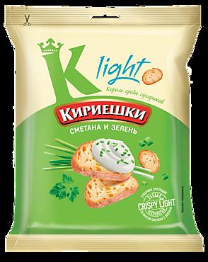 Сухарики «Кириешки Light» со вкусом сметаны и зелени, 80г
