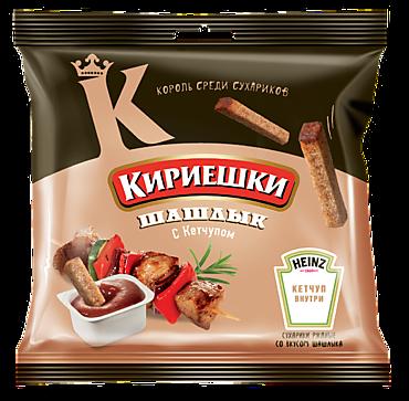 Сухарики «Кириешки» со вкусом шашлыка и кетчупом Heinz, 85г