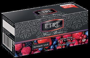 Чай черный «Etre» с лесными ягодами, 25 пакетиков