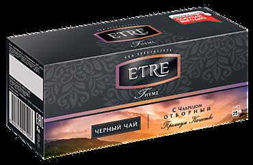 Чай «Etre» Thyme черный с чабрецом, 25 пакетиков, 50г