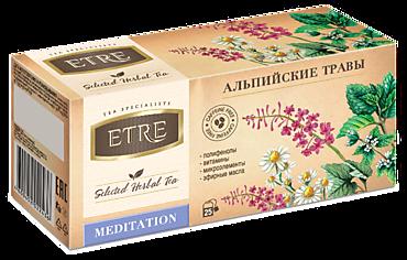 Чайный напиток «Etre» Meditation Альпийские травы, 25 пакетиков, 37г