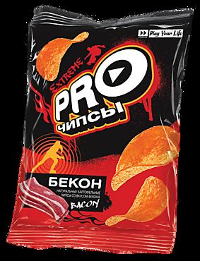 Чипсы «PRO-Чипсы» натуральные картофельные со вкусом бекона, 60г