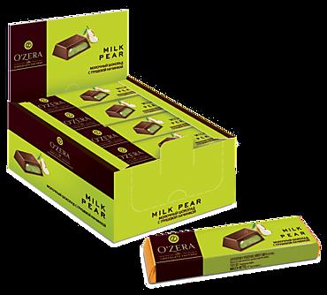 Батончик «O'Zera» молочный шоколад с грушевой начинкой, 50г