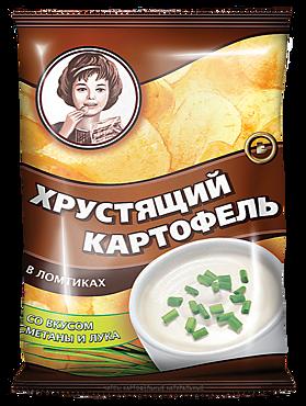 Чипсы «Хрустящий картофель» со вкусом сметаны и лука, 40г