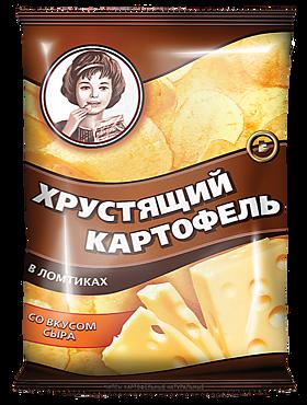Чипсы «Хрустящий картофель» со вкусом сыра, 40г