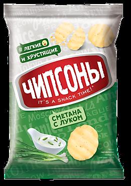 Чипсы «Чипсоны» со вкусом сметаны и лука, 40г