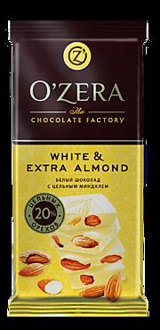 Шоколад «OZera» White and Extra Almond, 90г
