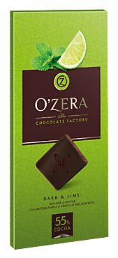 Шоколад «OZera» Dark & Lime, 100г