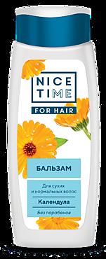 Бальзам для волос «Nice Time» Календула для сухих и нормальных волос, 400мл