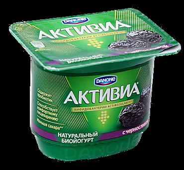 Биойогурт 2.9% «Активиа» с черносливом, 150г