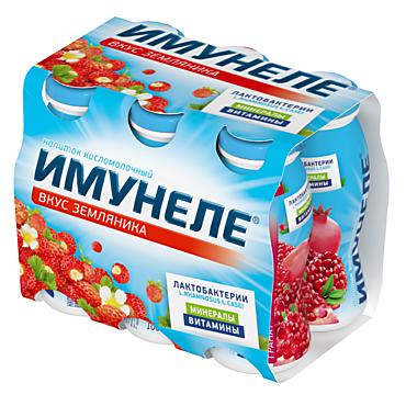 Кисломолочный напиток 1.2% «Neo Имунеле» земляника, 100г