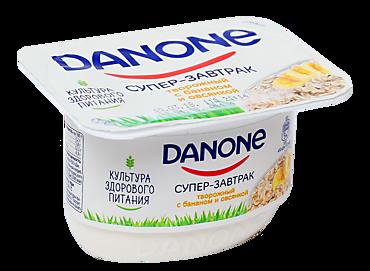 Творожный продукт 3.2% «Danone» с бананом и овсянкой, 130г